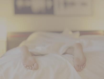Sleeping in bed